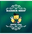 Vintage barber shop signage vector image