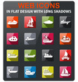 water transport icon set vector image vector image