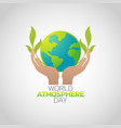 world atmosphere day logo icon design vector image vector image