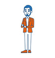 young businessman standing tie and shirt vector image vector image