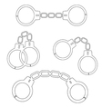 handcuffs set cartoon vector image