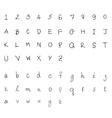 Sketch alphabet Hand drawn vector image