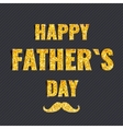 Golden glittering Happy Fathers Day card vector image