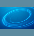 abstract blue color swirl wave design background vector image
