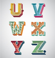 Alphabet retro vector image