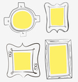 art yellow frames vector image vector image