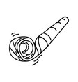 blower noisy icon doodle hand drawn or outline vector image