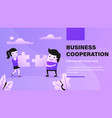 business cooperation vector image