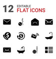 buttons icons vector image vector image
