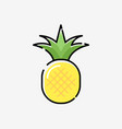 cartoon pineapple cute silhouette exotic vector image