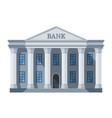 cartoon retro bank building or courthouse with vector image