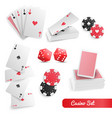 casino poker realistic set vector image