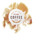 coffee paper emblem vector image vector image