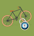 colorful bicycle flat vector image