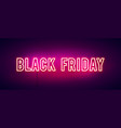 colorful retro black friday neon light banner vector image vector image