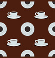 cups seamless pattern vector image