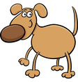 cute dog character cartoon vector image vector image
