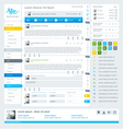 elements user interface for web vector image vector image