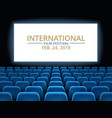 film festival movie theater hall with white vector image vector image