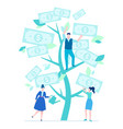 financial success - flat design style colorful vector image vector image