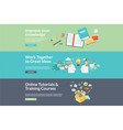 flat design concepts for education vector image
