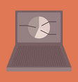 flat icon on stylish background laptop chart vector image vector image