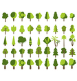 Flat trees in a flat design vector image