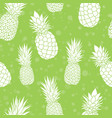 green pineapples summer colorful tropical vector image