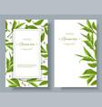 Green tea banners vector image