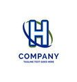 h company name design logo template brand name vector image