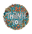 hand lettering thank you lettering sticker or vector image vector image