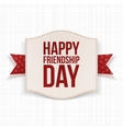 Happy Friendship Day festive Poster vector image vector image