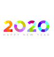 happy new year 2020 modern 2020 text design vector image vector image