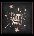 happy new year card invitation greetings 2019 vector image