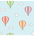 Hot air balloons seamless background vector image