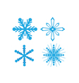 icons snowflake vector image vector image