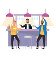 isolated men in a bar design vector image