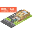 Isometric hospital vector image vector image