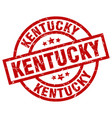 kentucky red round grunge stamp vector image vector image