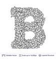 letter b symbol of white leaves vector image