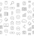 line blog icons pattern or background vector image vector image