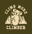 logo design climb more climber with koala vector image vector image