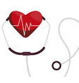 medical stethoscope with heart cardio vector image vector image