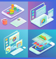 mobile and web analytics concept flat vector image vector image