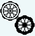 Old wheel motorcycle vector image
