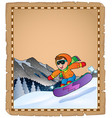 parchment with winter sport theme 3 vector image