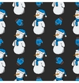 pattern snowmen with gloves vector image vector image