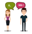 people talking speech communication vector image vector image