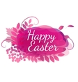pink floral watercolor letters for easter vector image
