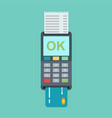 pos terminal in flat style vector image vector image